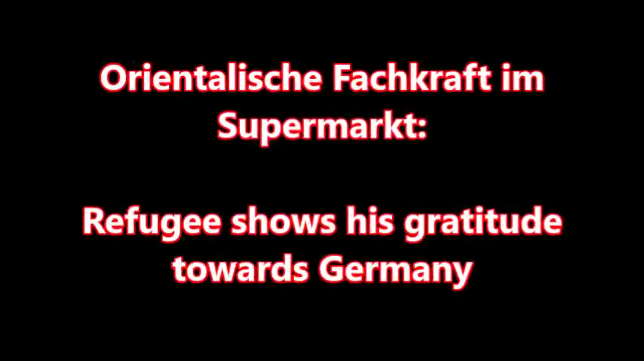 Refugee show his gratitude in Germany