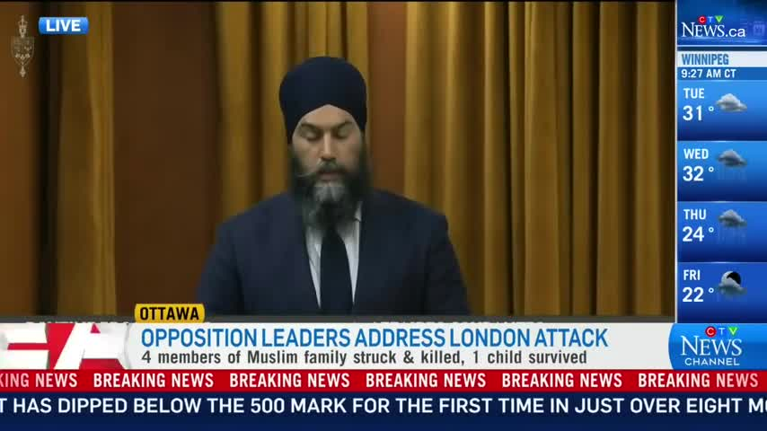 😒Pretending to Care: Freemasonic NDP Leader, Bashes Canada while Faking Care for Muslims.