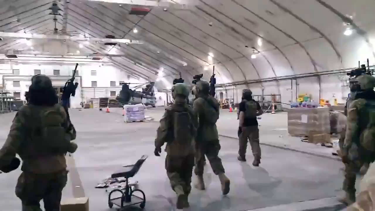 The Taliban entered the military part of the airport, and they got State Department CH-46D Sea Knight helicopters.