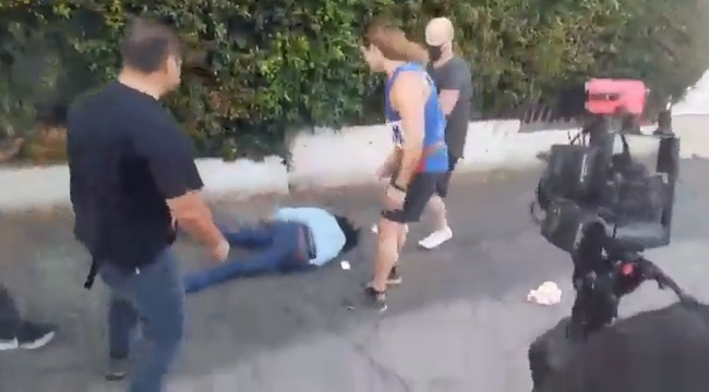 """Here's the """"i get punched out"""" Antifa loser er getting punched out"""
