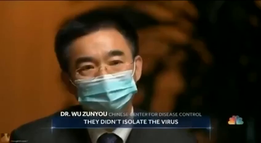 """""""They didn't isolate the virus, that's the issue""""."""