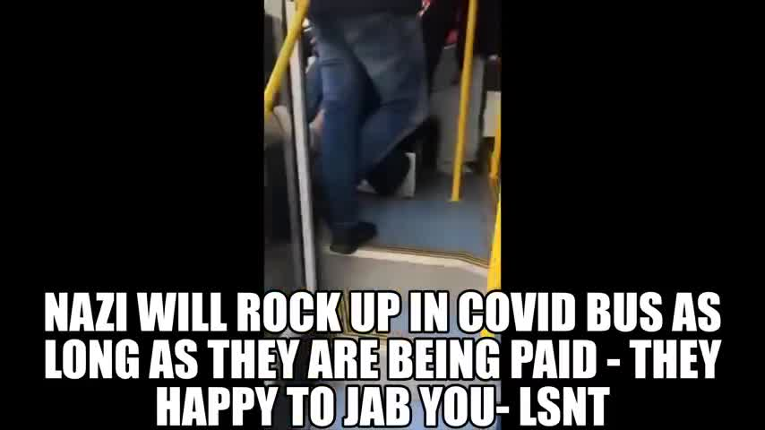 The Vaccination Bus - They're Being Paid to Jab You - They Do Not Care!!