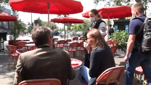 """French system cops are now harassing French citizens at restaurants. They are forcing citizens to show proof of """"vaccination"""""""