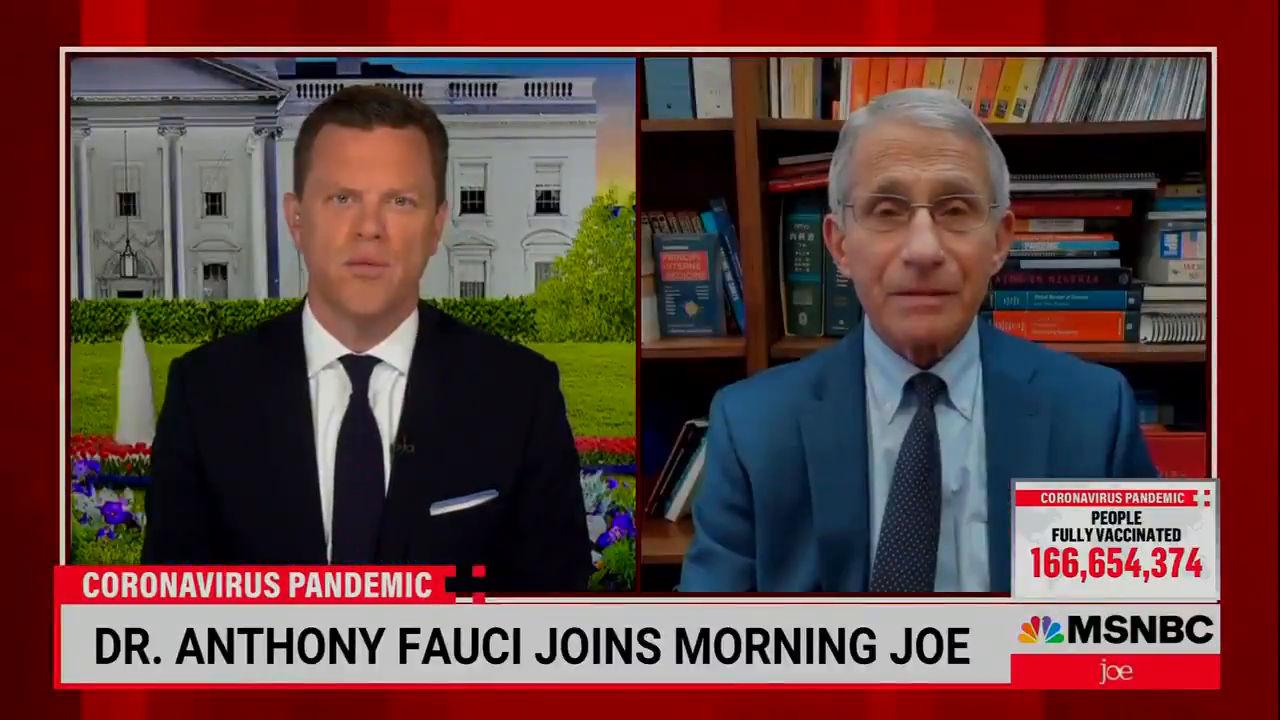 """Dr. Fauci: """"I'm sorry I know people must like to have their individual freedom... but I think that we're in such a serious situation now, that under certain circumstances, mandates should be done"""