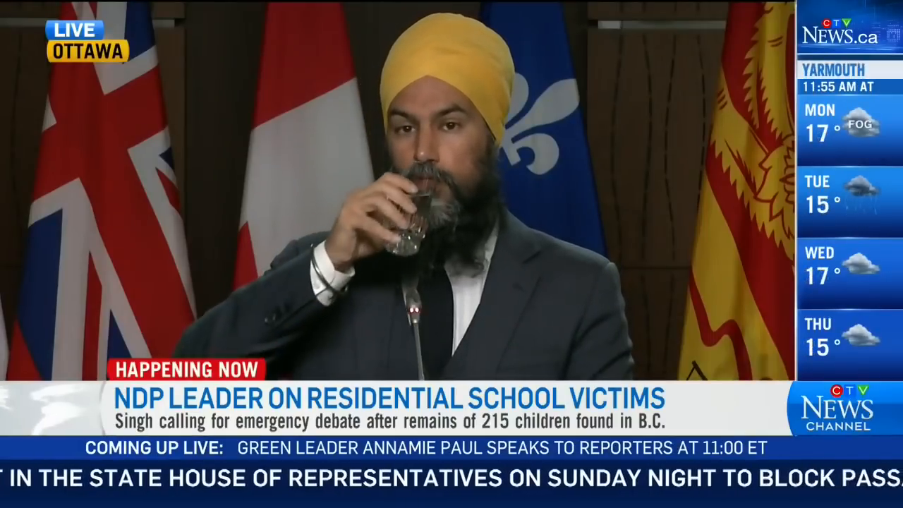 😒Pretending to Care: Freemasonic NDP Leader Cries Tears of Nothingness, while Addressing Native Issues