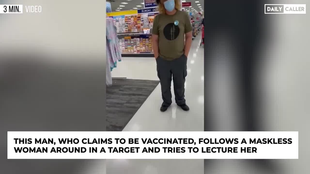 Man Follows Maskless Woman In Store And Attempts To Shame Her