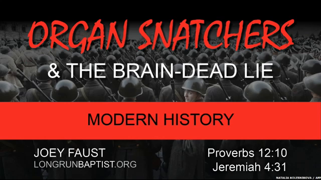 Organ Snatchers And The Brain-Dead Lie by Joey Faust (audio recording)