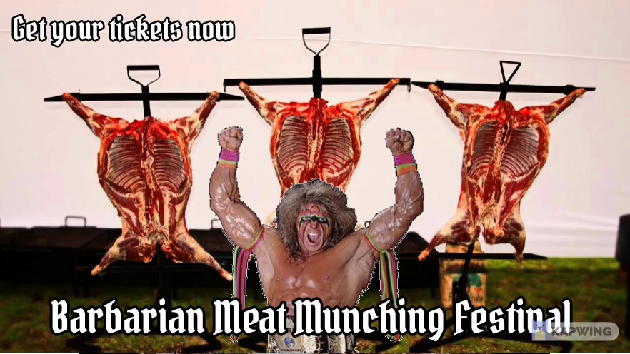 Barbarian Barbeque feast
