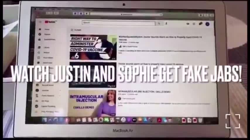 Registered Nurse EXPOSES Justin and Sophie Trudeau getting FAKE jabs!