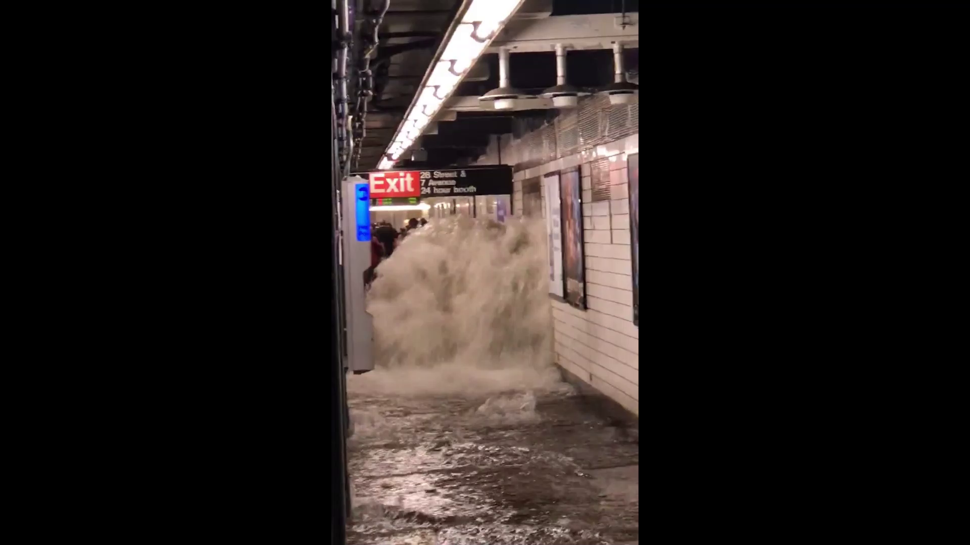 some weather we're having #6 - New York subway recently after the passage of Hurricane Ida