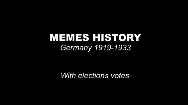 Memes History Germany 1919-1933 - with elections vote