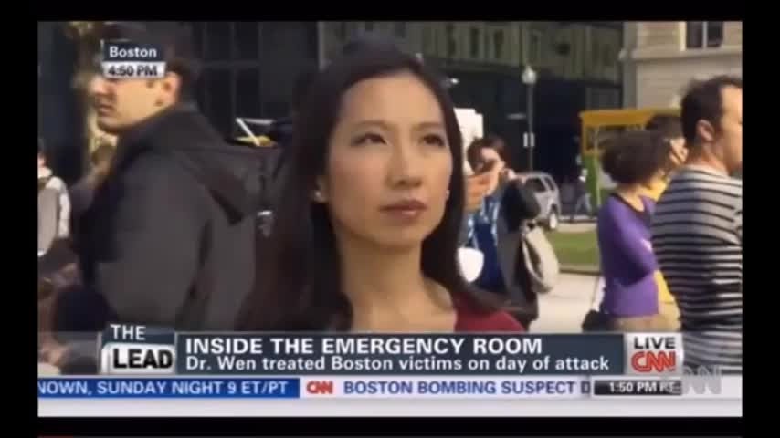 """""""DR"""" LEANA WEN BUSTED & EXPOSED AS RUBBISH CRISIS ACTOR FROM THE BOSTON BOMBING FALSE FLAG"""
