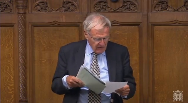 Sir Christopher Chope becomes the first MP to bring up adverse events and deaths from COVID-19 vaccines in parliament.