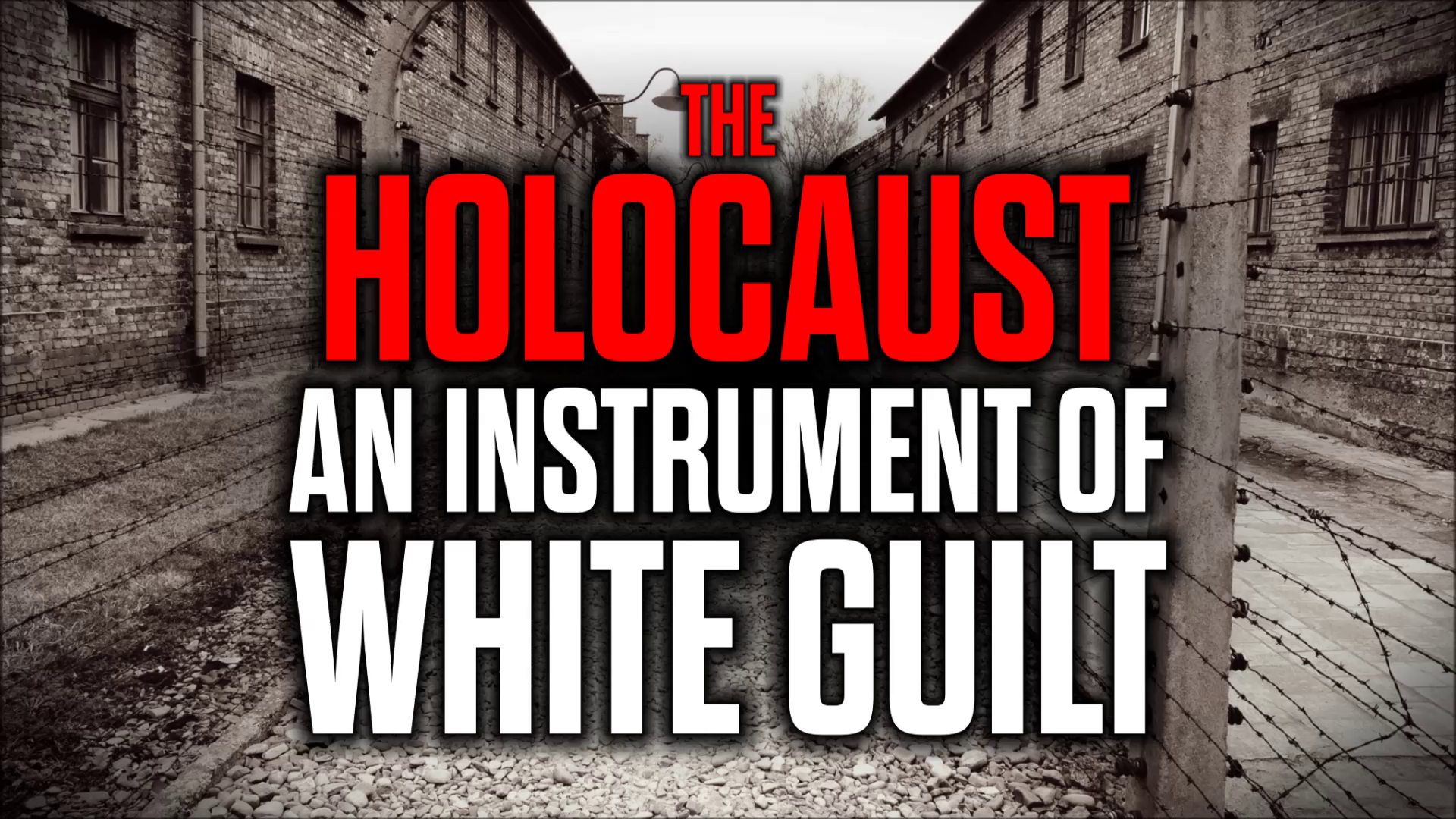 The Holocaust -  An Instrument of White Guilt