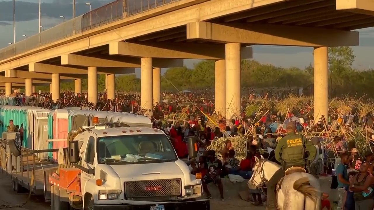 USA - Over 15,000 Haitian migrants now at the border... at least they brought the Portaloos