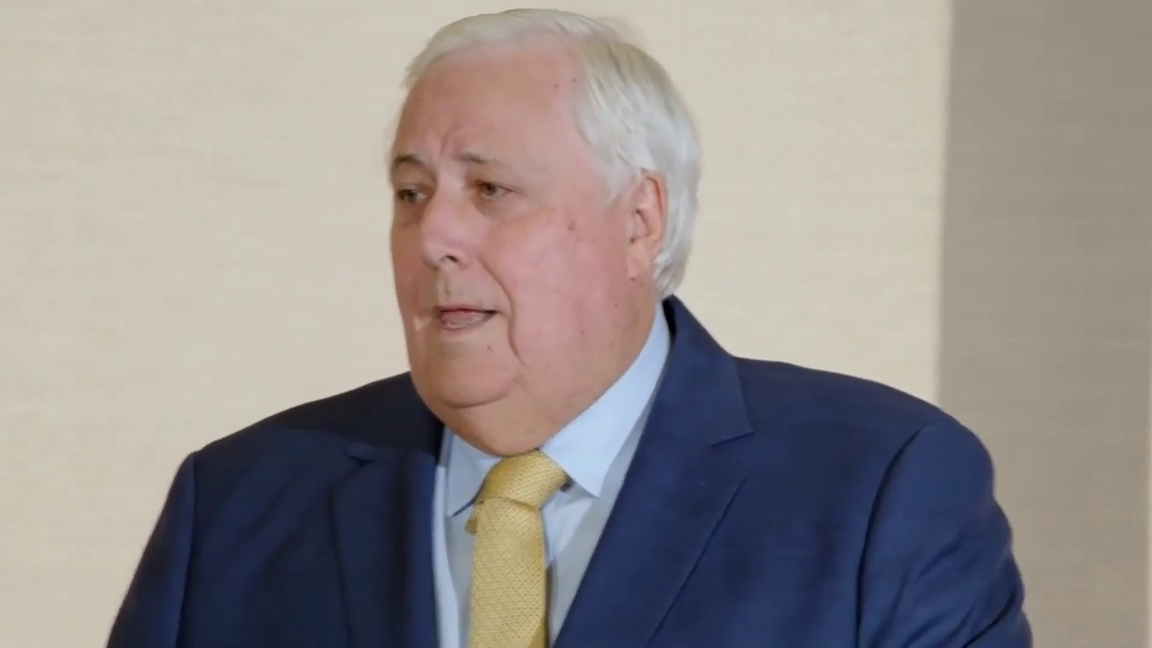 Meanwhile, in Australia. Clive Palmer press conference 2021-09-14