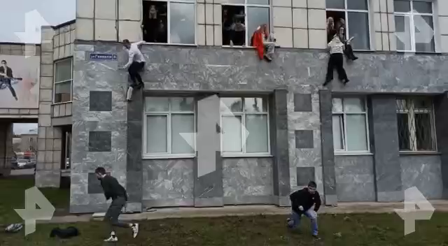 Gunman attacks a university in the Russian city of Perm. Deaths and injuries being reported.  Faculty and students were filmed jumping out of windows