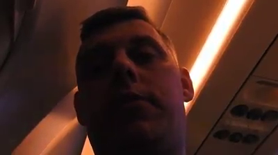 Footage of a star from an airplane at night