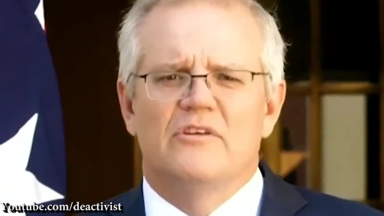"""PM Morrison """"We Believe In A World Order That Values Freedom"""" LOL"""
