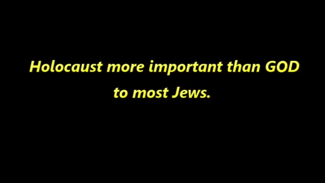 REPOST from 2018 - Holocaust More Important than God ..., Oct 23, 2021