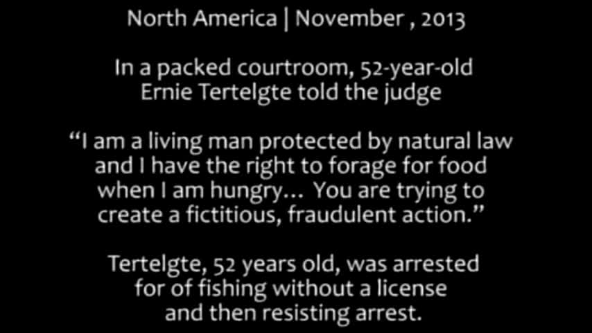 Living Man Arrested for Feeding Himself from the Land