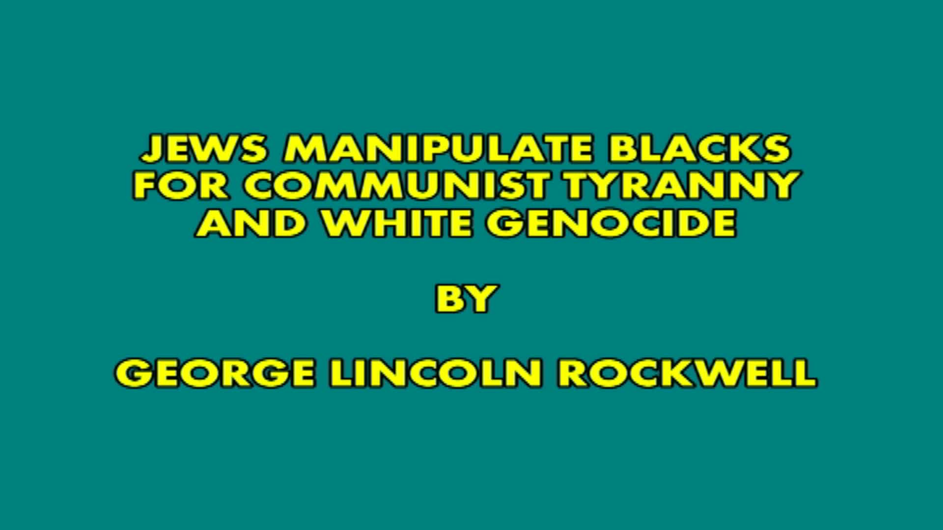 Jews manipulate blacks for communist tyranny and white genocide by George lincoln rockwell