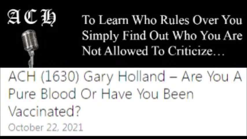 Gary Holland - A. Carrington-Hitchcock Show - Refusing death-shot means you're antisemitic.
