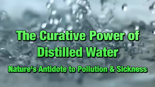 The Curative Power of Distilled Water Introduction - Dr. Robert Cassar
