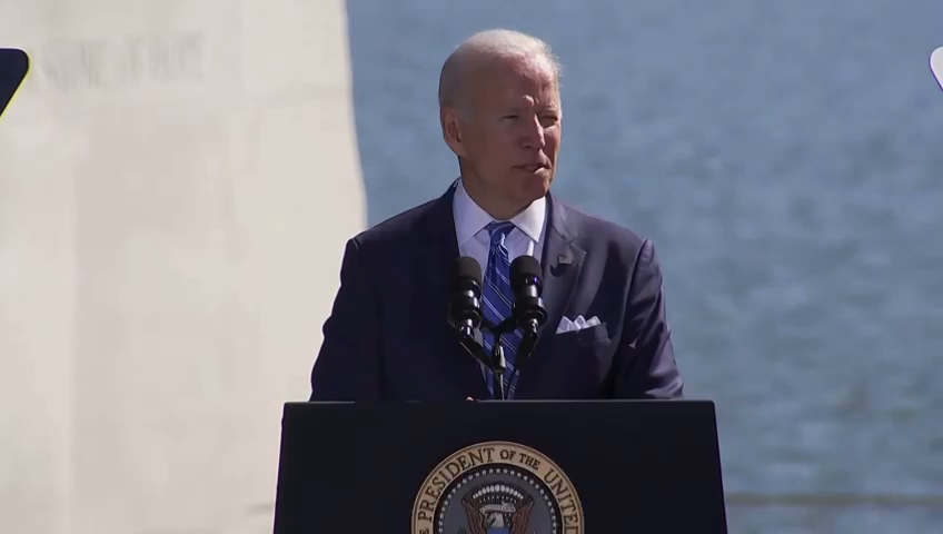 """BIDEN AT MLK MEMORIAL: """"The violent, deadly insurrection on the Capitol nine months ago, it was about white supremacy."""""""