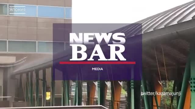 A powerful typhoon goes to Japan - the storm hit with showers, the wind blows people away