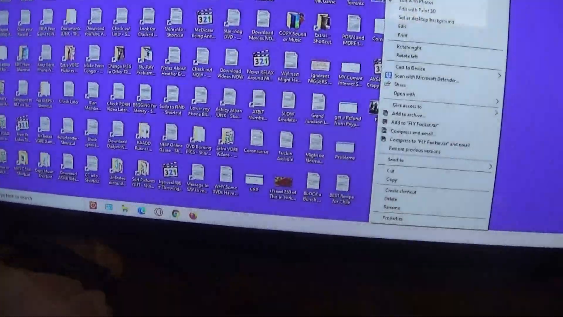 Using my Mouse Cursor With my FLY Fucker Picture on a FLY.